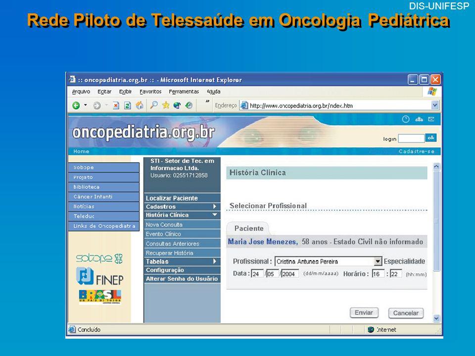 Rede Piloto de Telessaúde em Oncologia Pediátrica