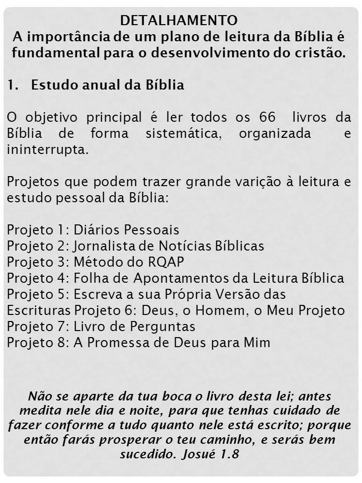 Projeto 1: Diários Pessoais Projeto 2: Jornalista de Notícias Bíblicas