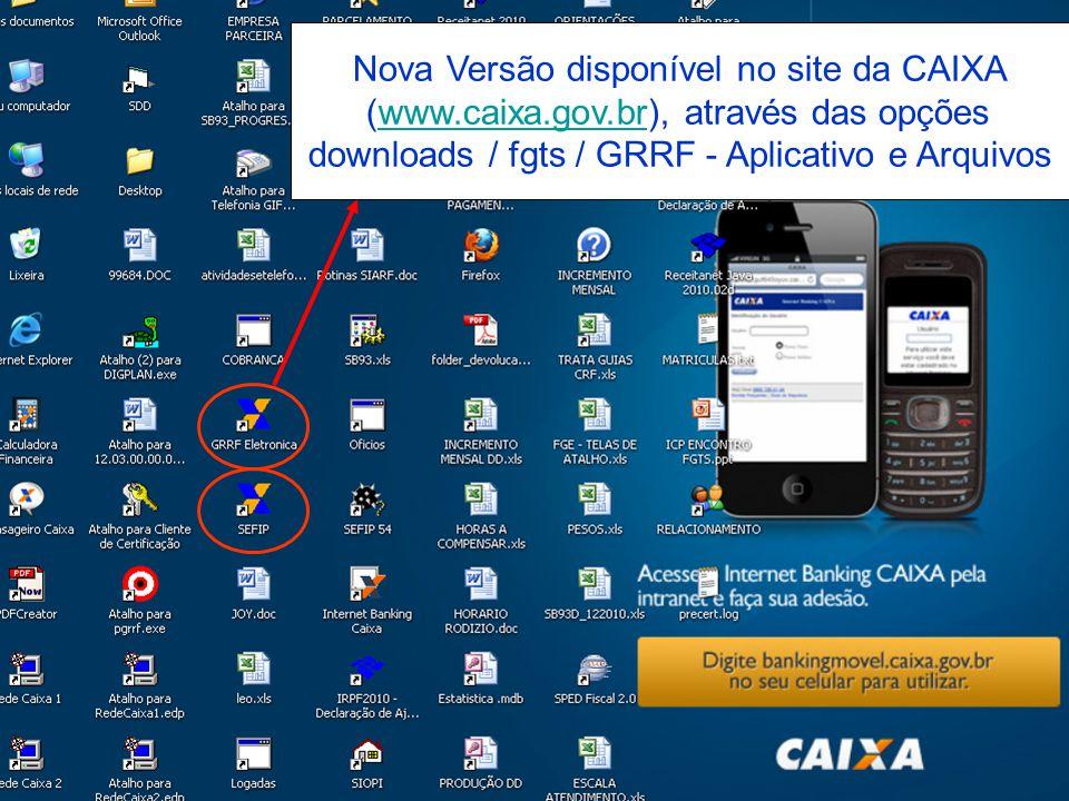 Nova Versão disponível no site da CAIXA