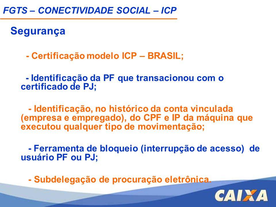 Segurança FGTS – CONECTIVIDADE SOCIAL – ICP