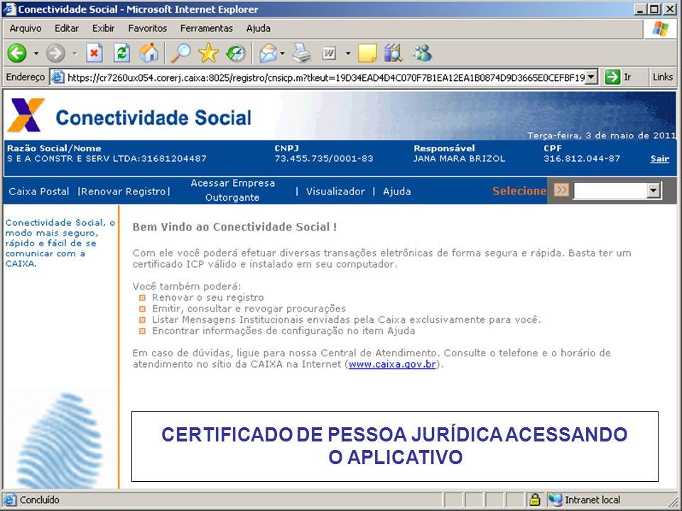 CERTIFICADO DE PESSOA JURÍDICA ACESSANDO