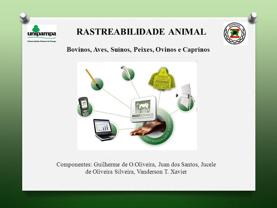 RASTREABILIDADE ANIMAL Bovinos, Aves, Suínos, Peixes, Ovinos e Caprinos