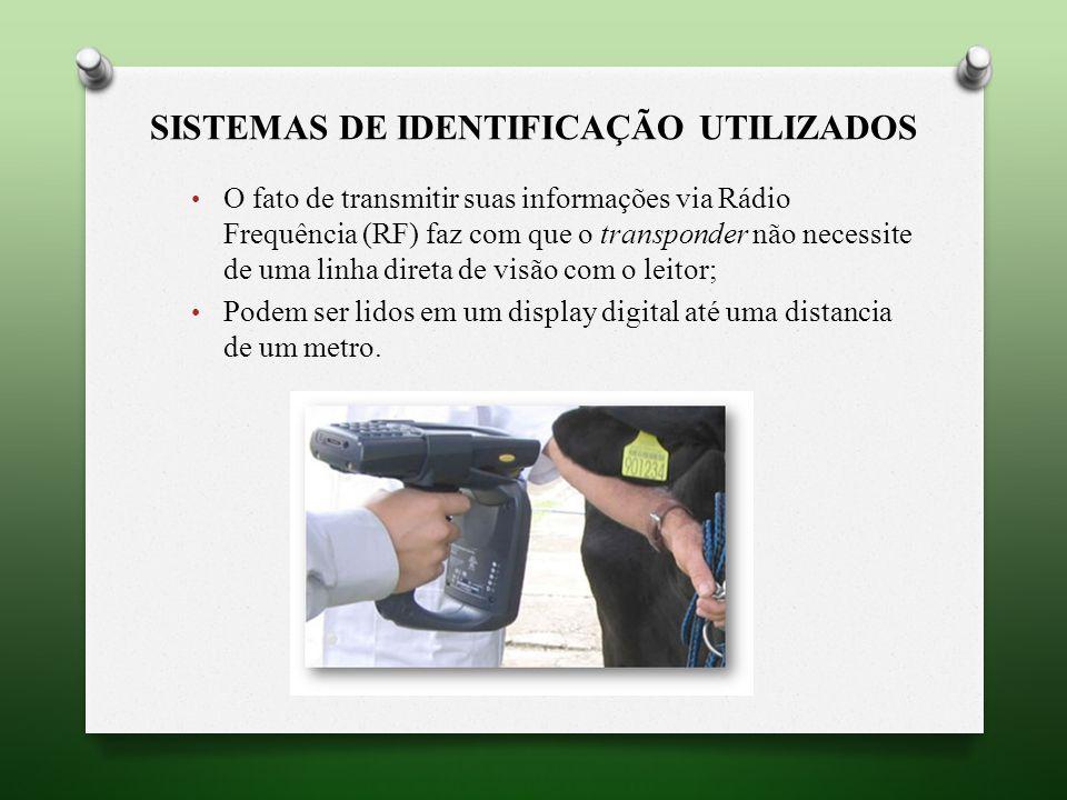 Sistemas de identificação utilizados