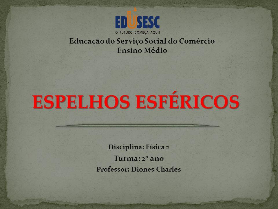 Educação do Serviço Social do Comércio Professor: Diones Charles