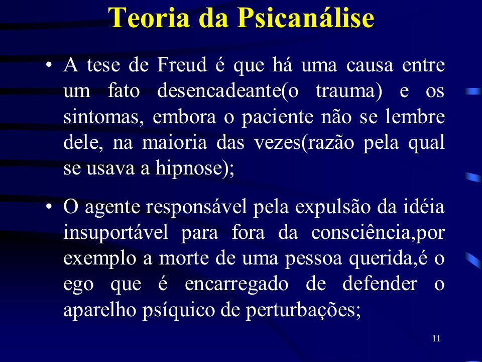 Teoria da Psicanálise