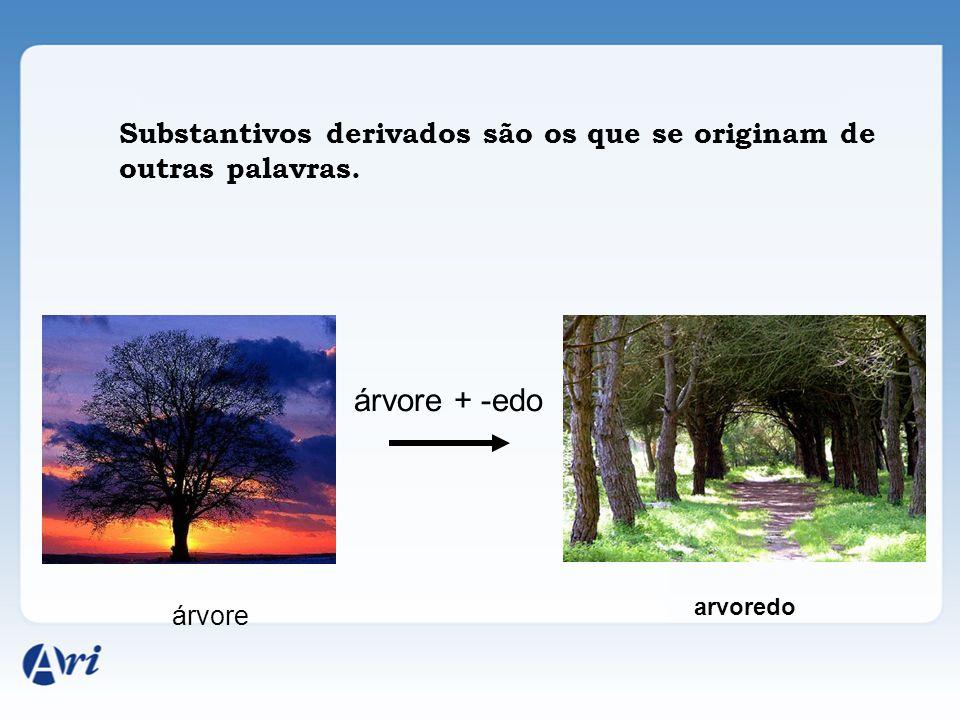 Substantivos derivados são os que se originam de outras palavras.