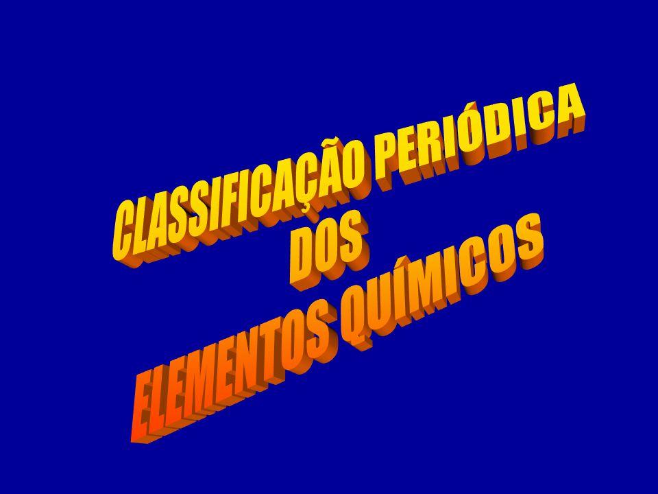 CLASSIFICAÇÃO PERIÓDICA