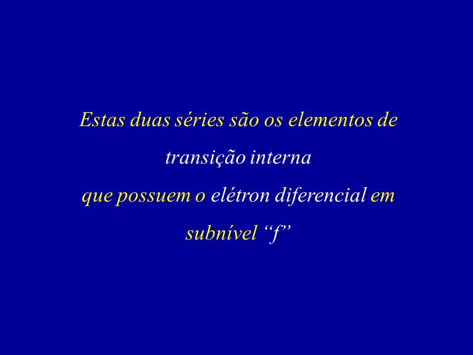 Estas duas séries são os elementos de transição interna