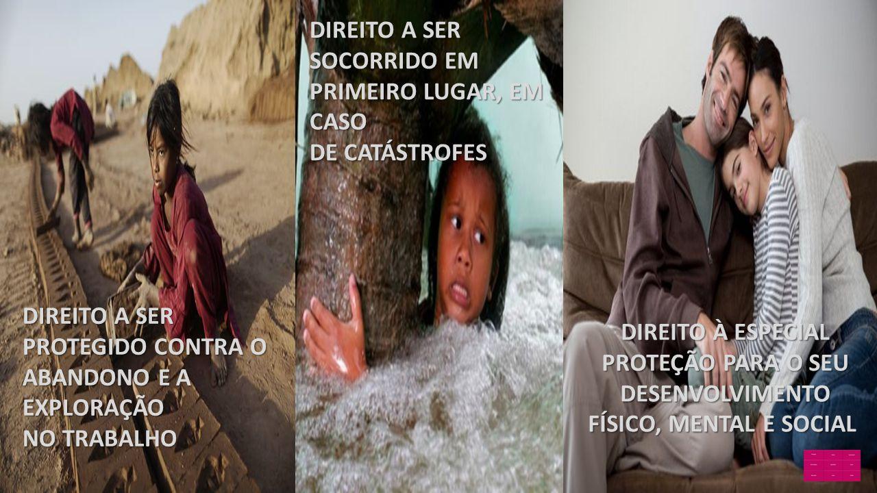 DIREITO A SER SOCORRIDO EM PRIMEIRO LUGAR, EM CASO DE CATÁSTROFES