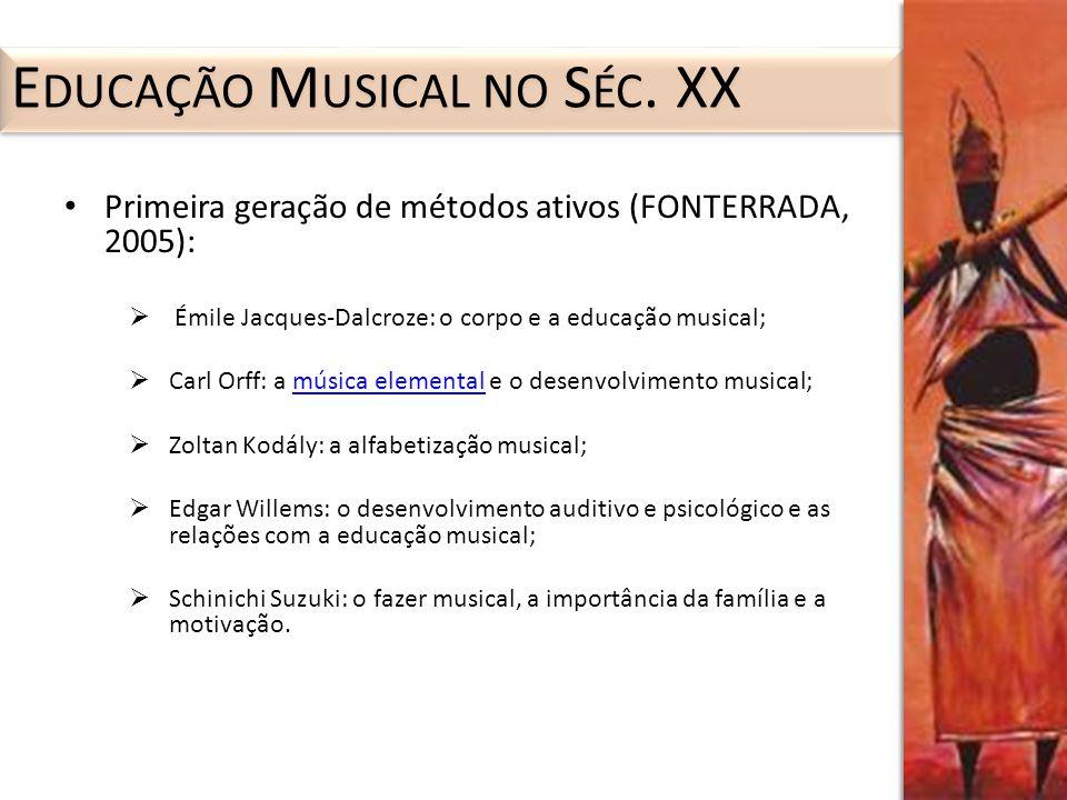 Educação Musical no Séc. XX