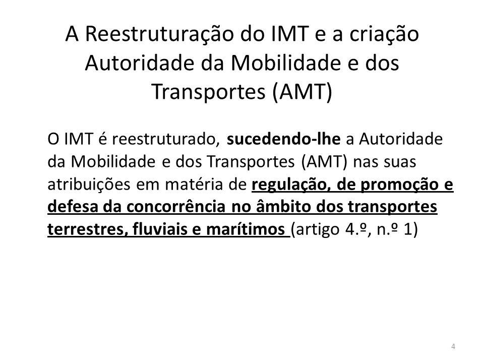 A Reestruturação do IMT e a criação Autoridade da Mobilidade e dos Transportes (AMT)