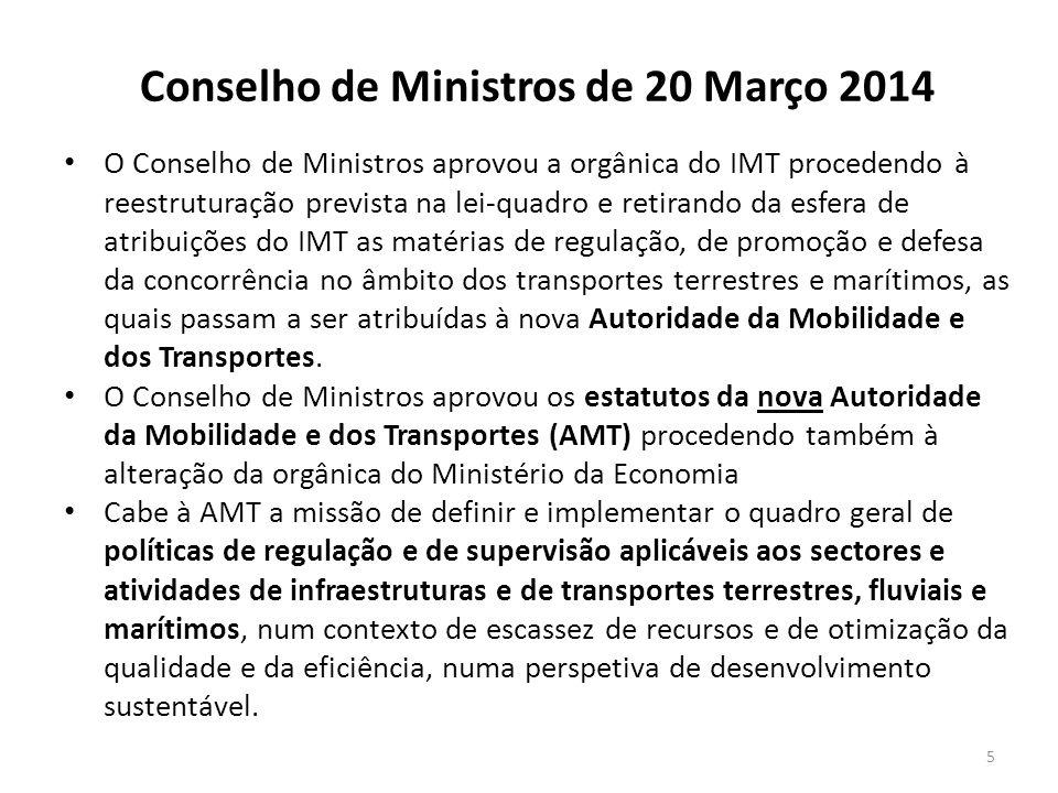 Conselho de Ministros de 20 Março 2014