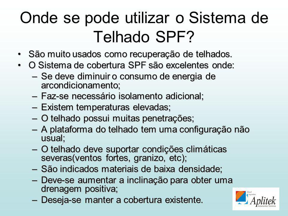Onde se pode utilizar o Sistema de Telhado SPF