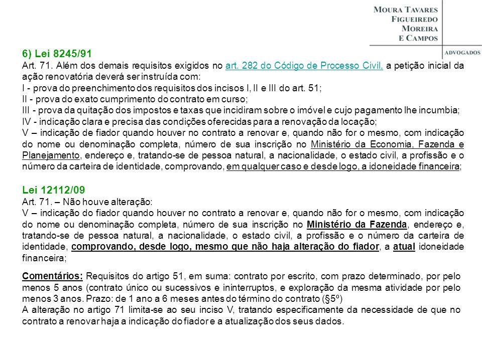 6) Lei 8245/91
