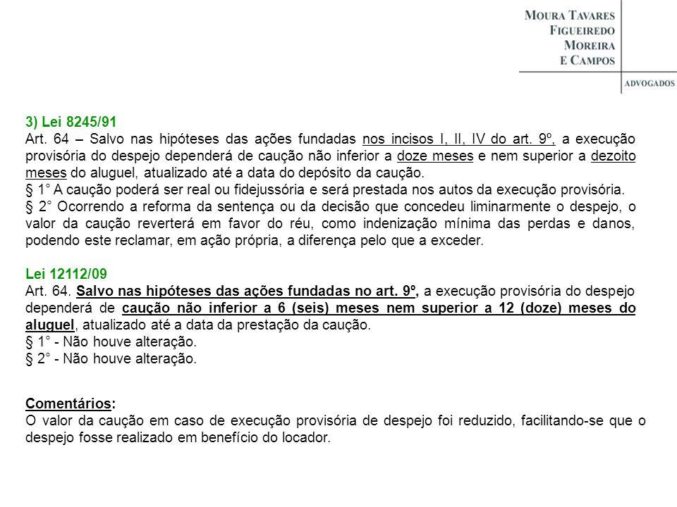 3) Lei 8245/91