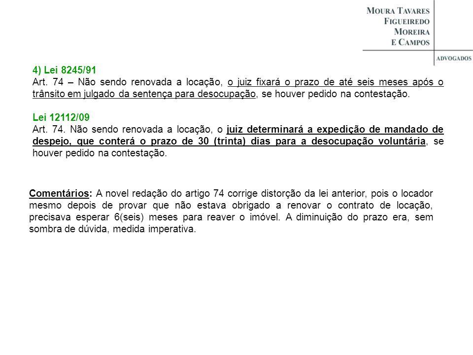 4) Lei 8245/91