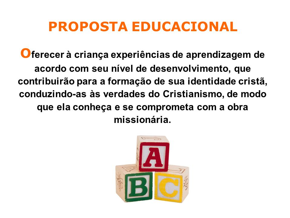 PROPOSTA EDUCACIONAL