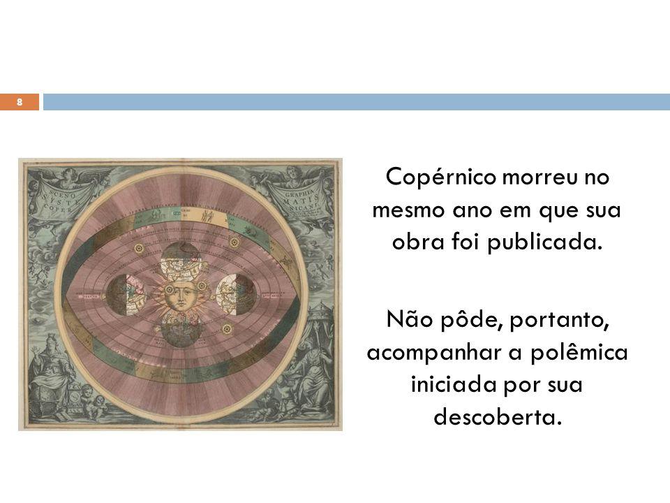 Copérnico morreu no mesmo ano em que sua obra foi publicada