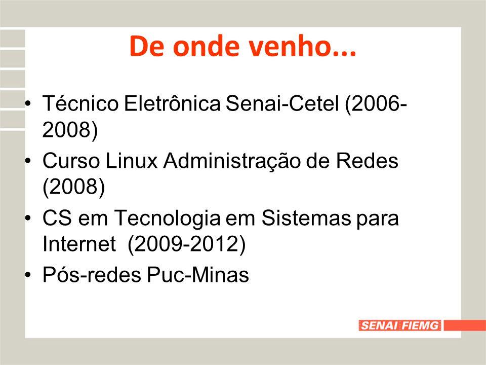 De onde venho... Técnico Eletrônica Senai-Cetel (2006-2008)