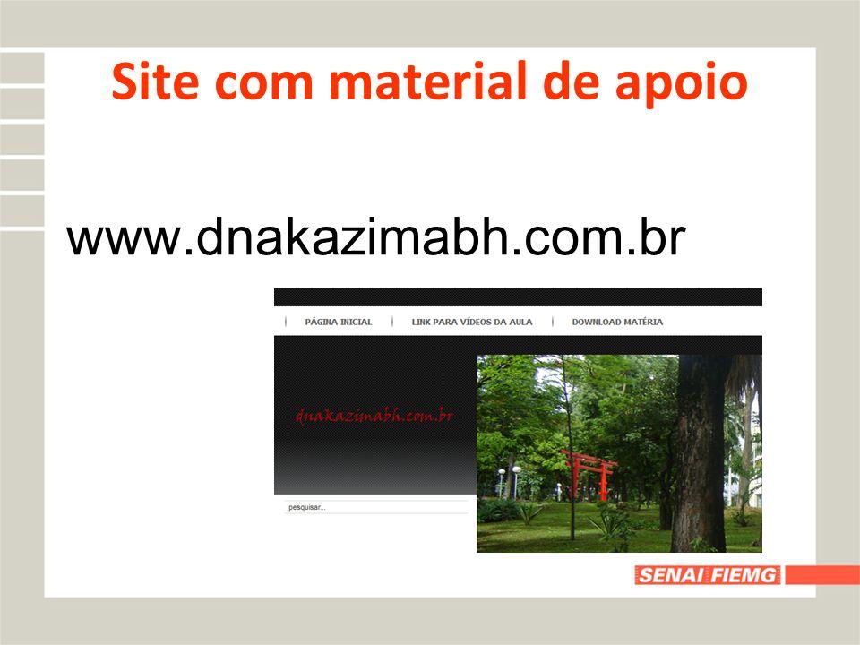 Site com material de apoio