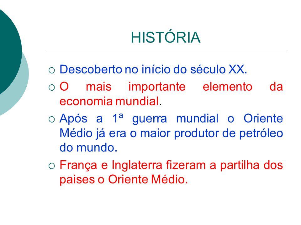 HISTÓRIA Descoberto no início do século XX.