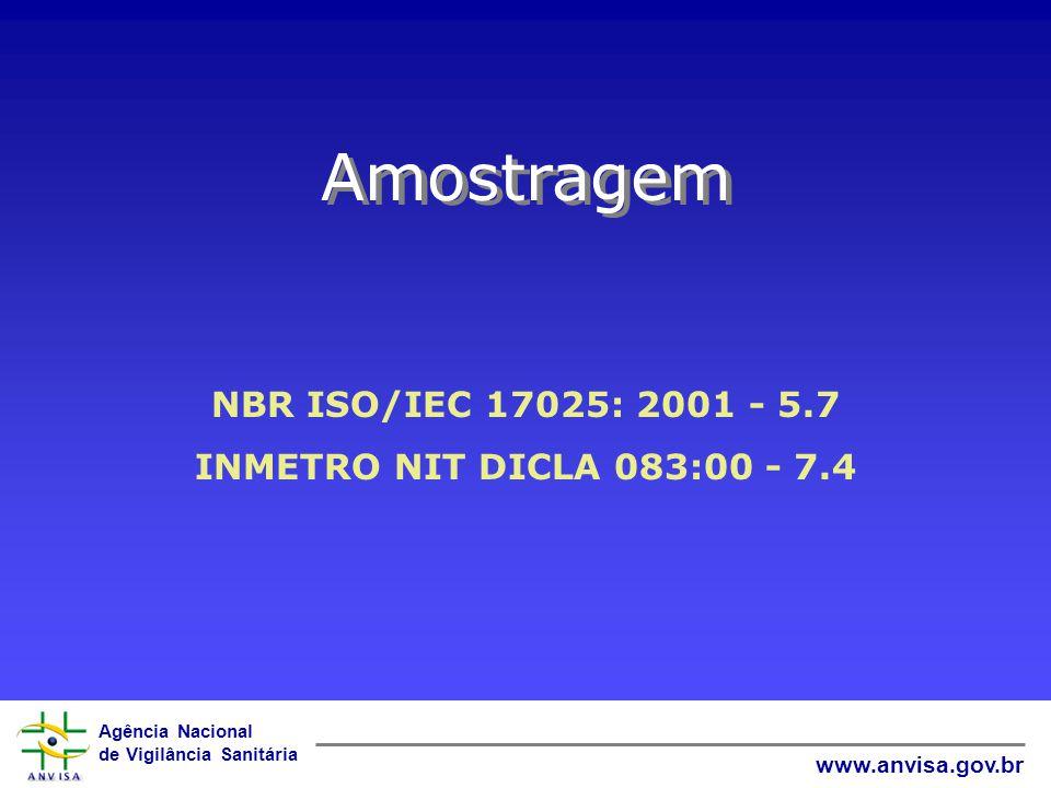 Amostragem NBR ISO/IEC 17025: 2001 - 5.7