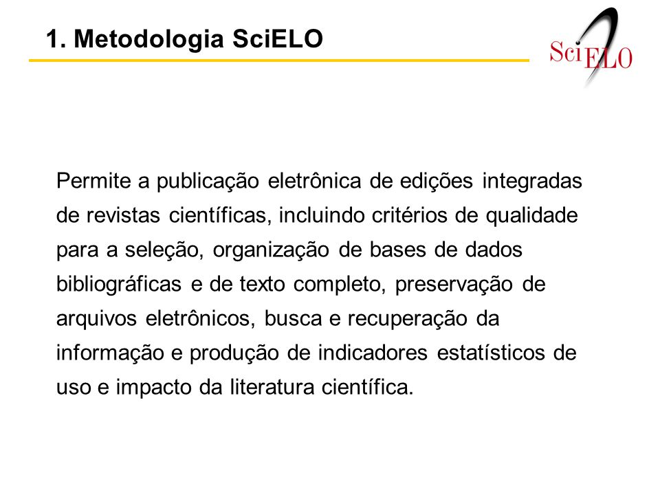 1. Metodologia SciELO