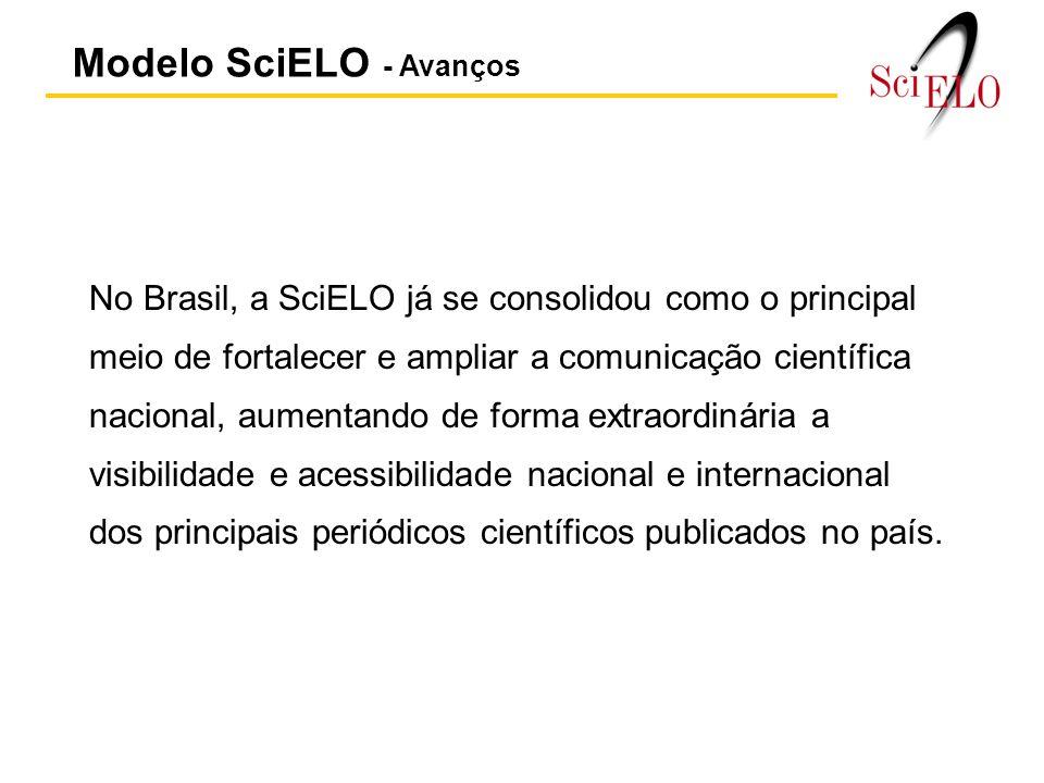 Modelo SciELO - Avanços