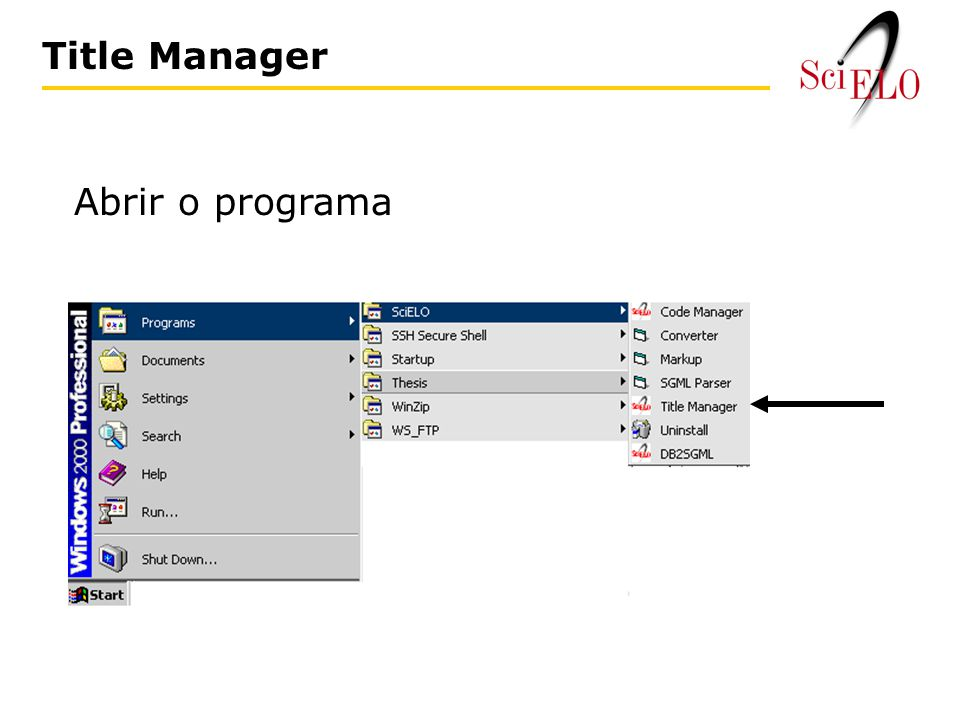Title Manager Abrir o programa