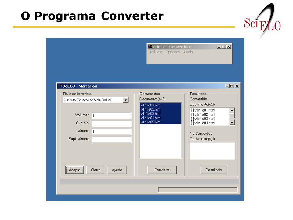 O Programa Converter