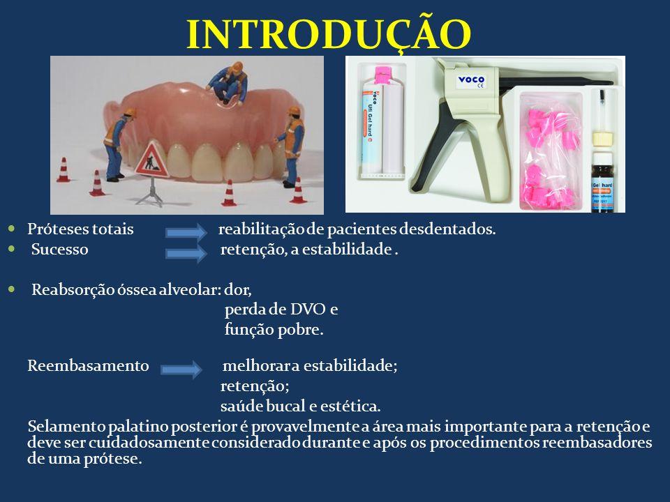 INTRODUÇÃO Próteses totais reabilitação de pacientes desdentados.