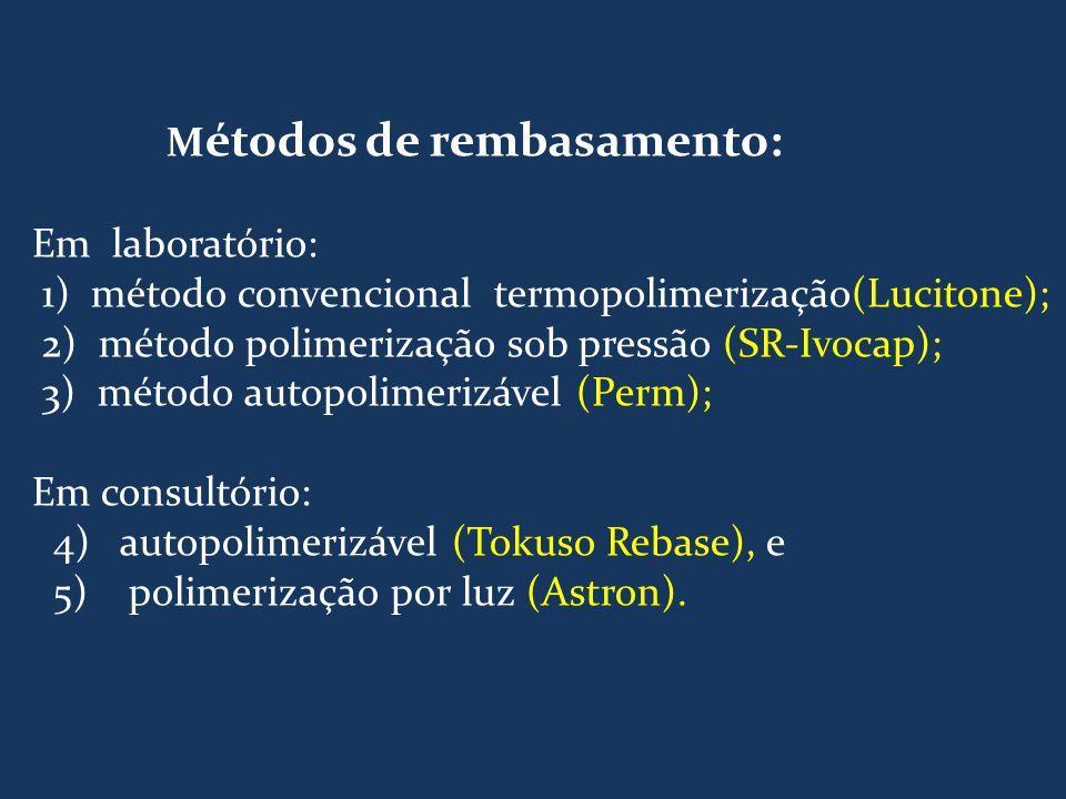 Métodos de rembasamento: