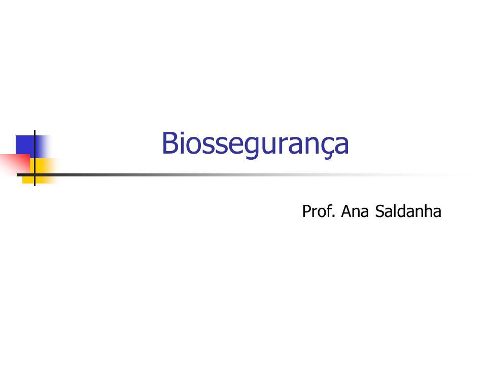 Biossegurança Prof. Ana Saldanha