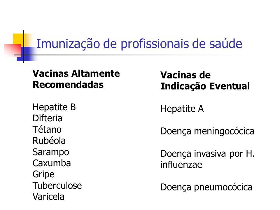 Imunização de profissionais de saúde