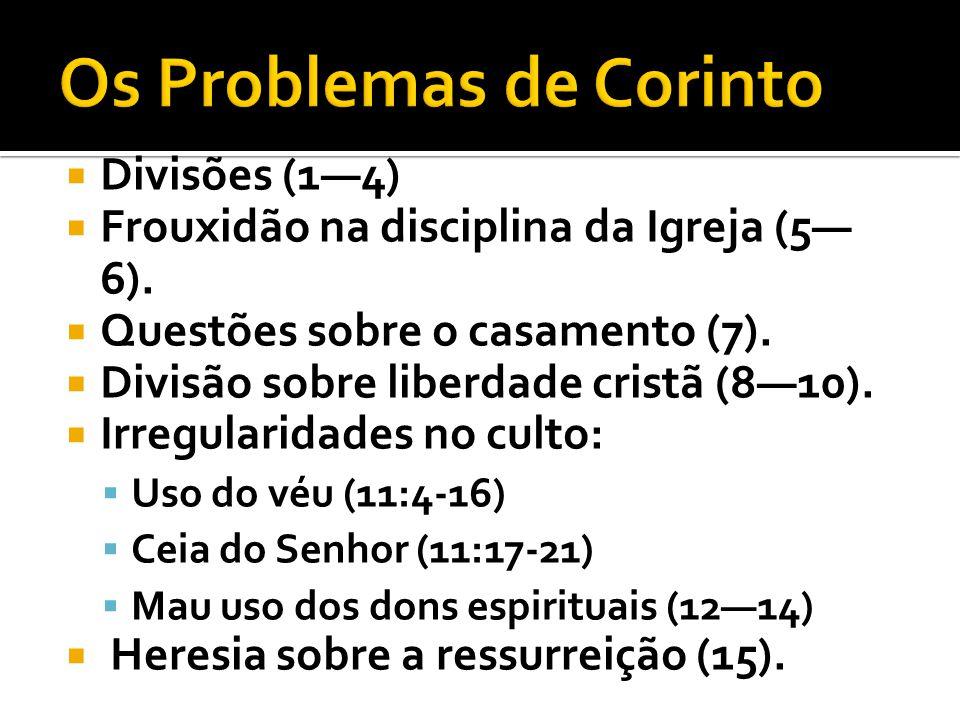 Os Problemas de Corinto