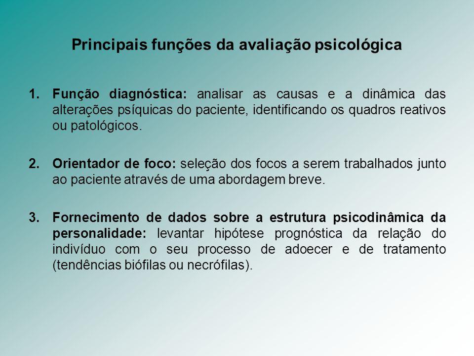 Principais funções da avaliação psicológica