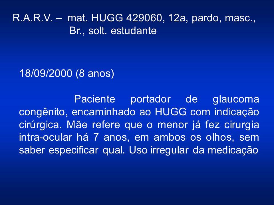 R.A.R.V. – mat. HUGG 429060, 12a, pardo, masc.,