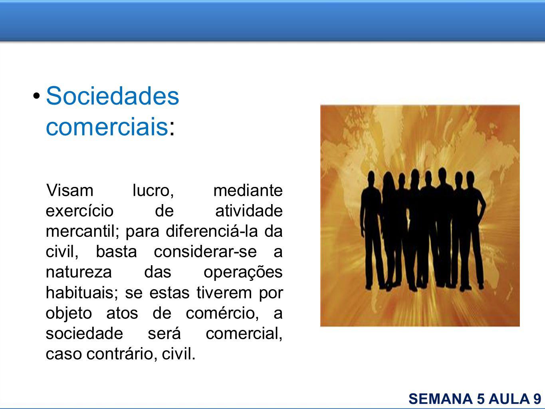 Sociedades comerciais: