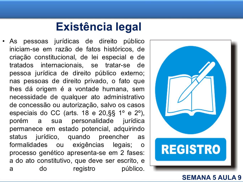 Existência legal