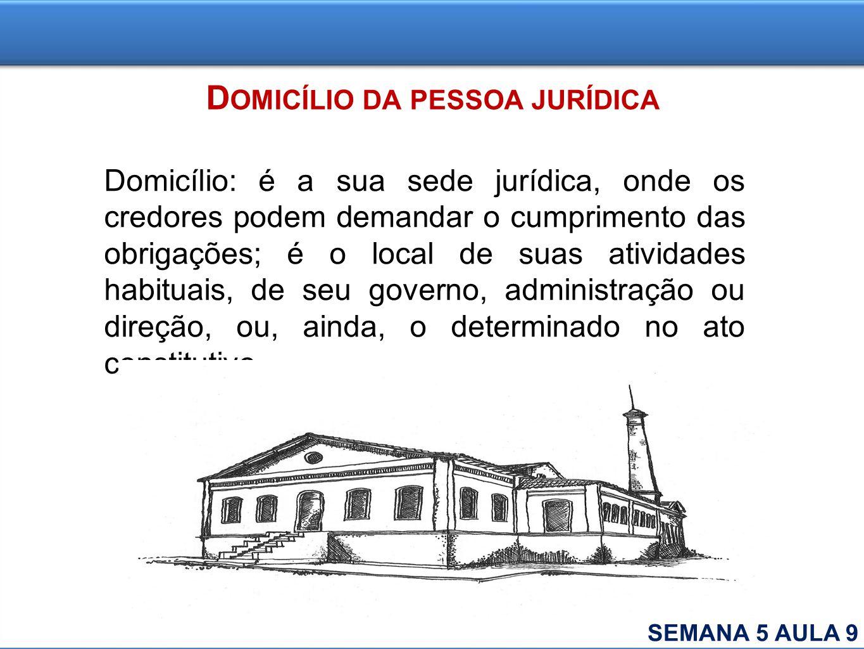 Domicílio da pessoa jurídica