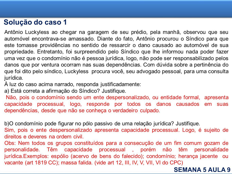 Solução do caso 1 SEMANA 5 AULA 9