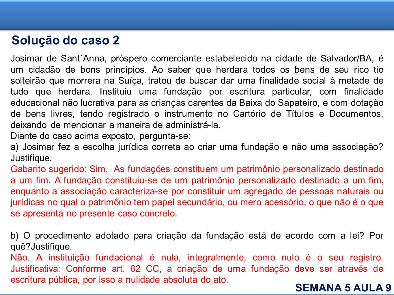 Solução do caso 2 SEMANA 5 AULA 9
