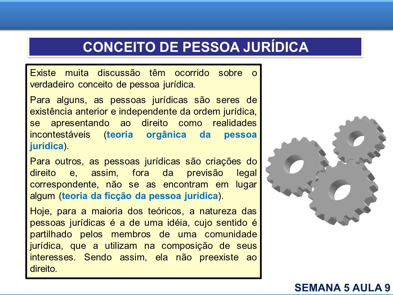 CONCEITO DE PESSOA JURÍDICA