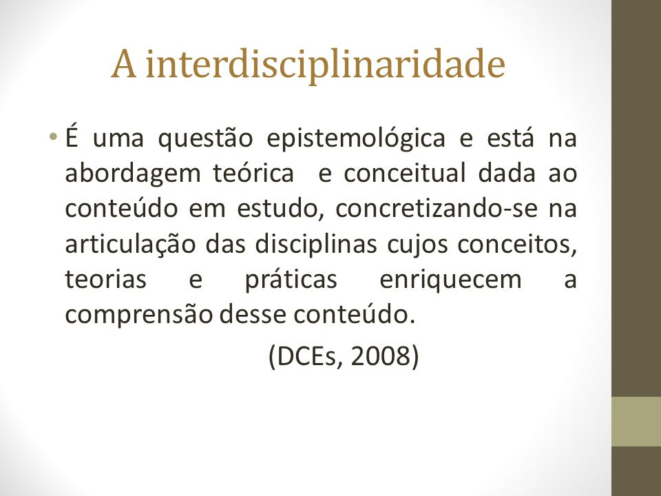 A interdisciplinaridade