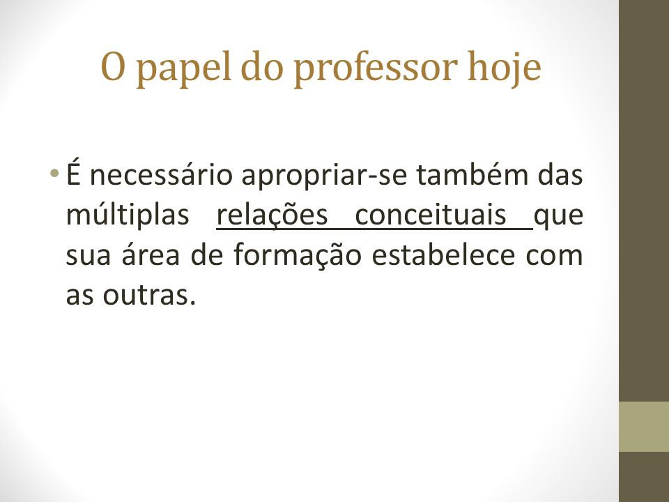 O papel do professor hoje