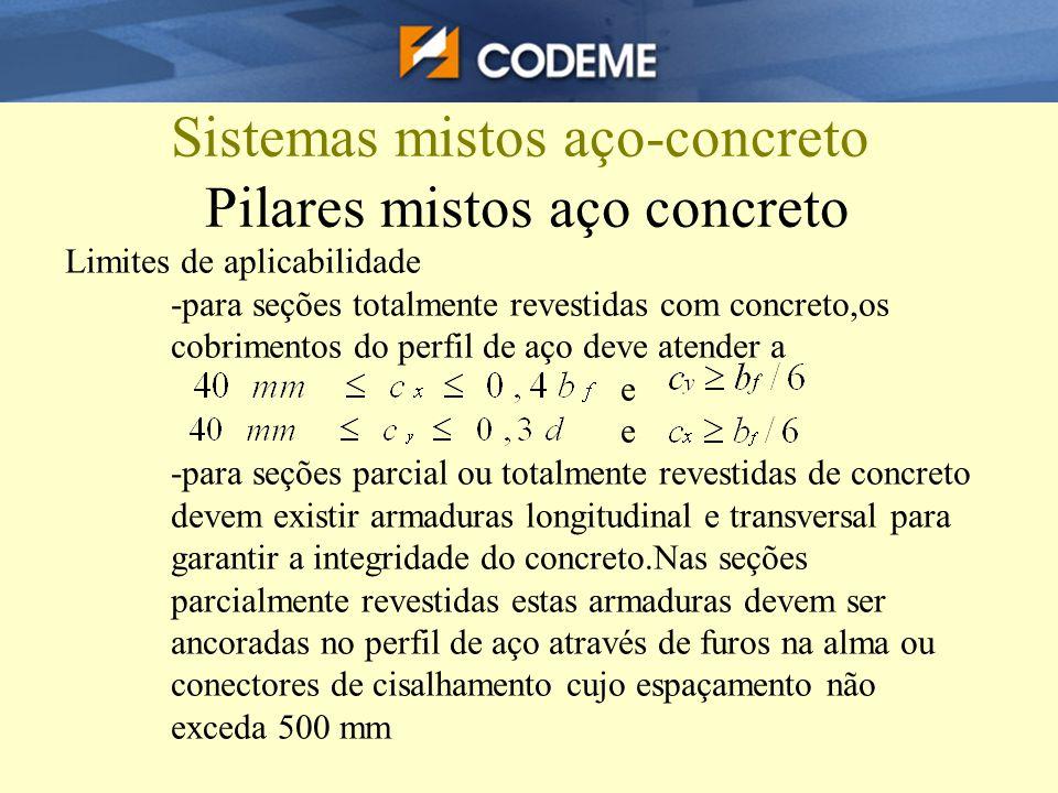 Sistemas mistos aço-concreto Pilares mistos aço concreto