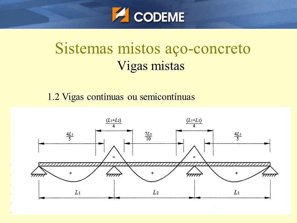 Sistemas mistos aço-concreto Vigas mistas