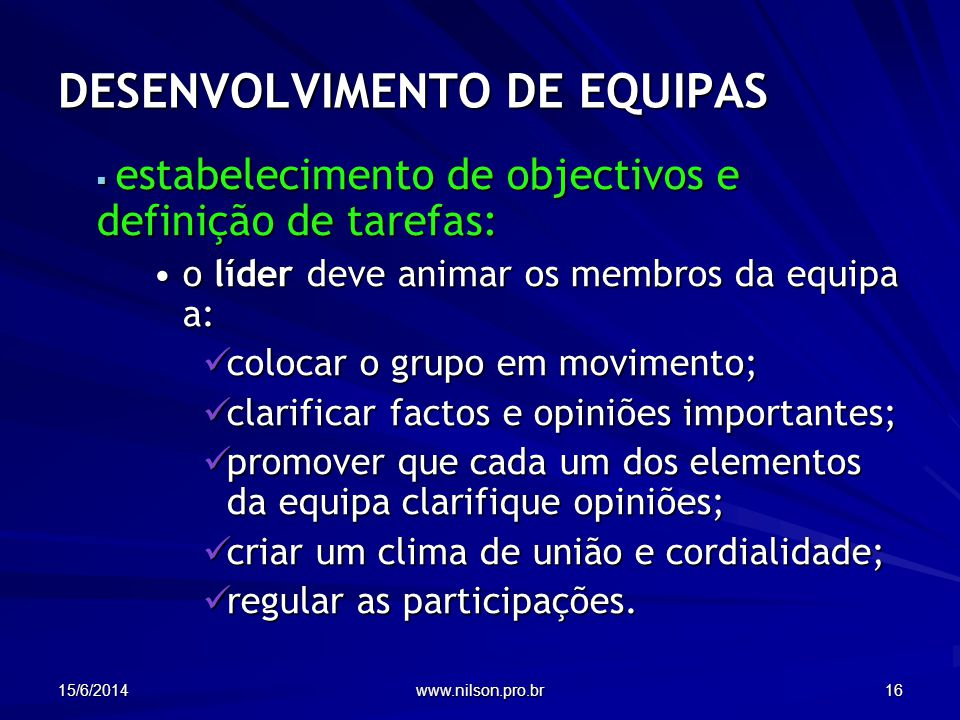 DESENVOLVIMENTO DE EQUIPAS