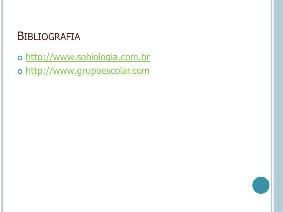 Bibliografia http://www.sobiologia.com.br http://www.grupoescolar.com