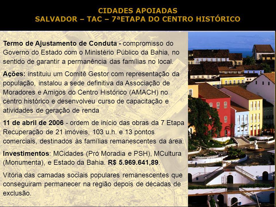 SALVADOR – TAC – 7ªETAPA DO CENTRO HISTÓRICO